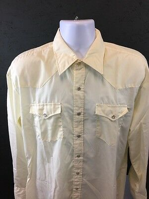 Vintage 70's Youngbloods Men's Western Yellow PEARL SNAP Shirt ~ Size Medium M