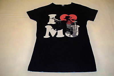 Michael Jackson tribute T-Shirt babydoll I Heart Love MJ  Medium Ladies Girly