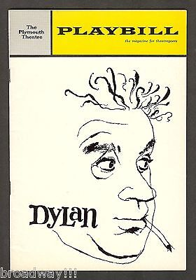 "Alec Guinness ""DYLAN"" (Thomas) Kate Reid / Jenny O'Hara 1964 Broadway Playbill"