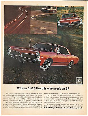 Vintage ad for Pontiac Lemans hardtop Red Stripes Photo (101016)
