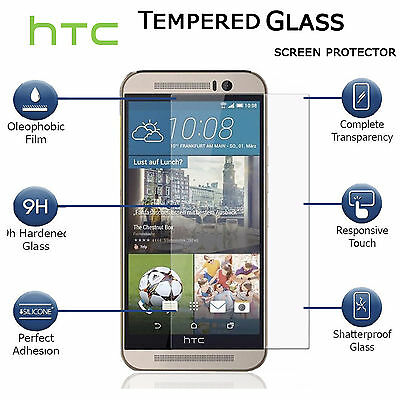 100% Full HD 9H Clear 3D Tempered Glass Screen Protector For HTC Mobile Phones