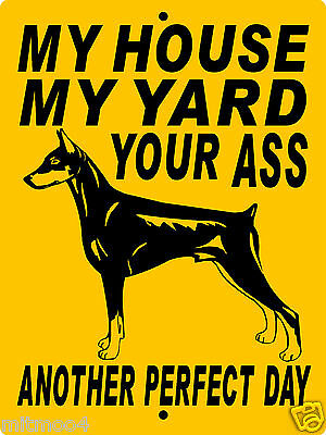 "DOBERMAN PINSCHER  DOG SIGN,9""x12"" ALUMINUM SIGN,DOG WARNING,SECURITY,h1994dp"