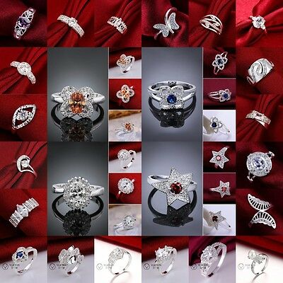 New Wholesale Fashion xmas Jewellery Ladies/mens Solid925 Silver Ring Gift +box