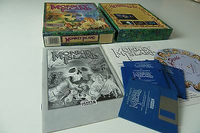 Boxed Amiga Game - The Secret Of Monkey Island by Lucasfilm Games ۩