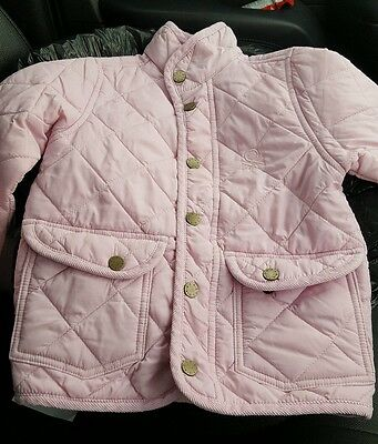 Girls 3-4Years Pale Pink Benetton Coat Good Condition