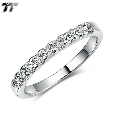 TT 2.2mm Width RHODIUM 925 Sterling Silver Engagement Wedding Band Ring (RW50)