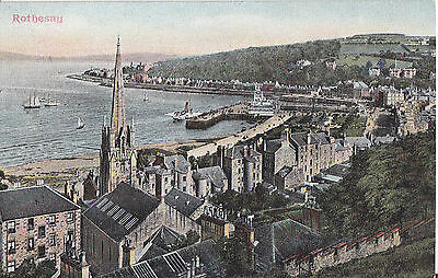 Rothesay Fine Old General View Postcard