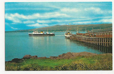 Postcard, PT36336, Wemyss Bay and Firth of Clyde with Passenger Ferry