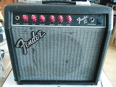 Fender 15 Red Knobs Made In Mexico 1991 Perfetto,amplificatore Vintage