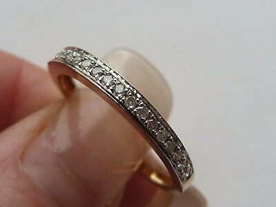 Vintage 9Ct Gold Diamond Half Eternity Ring