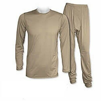 US Army ECWCS GEN III Level 1 Polartec Underwear Set Tan499 Coyote Large Regular