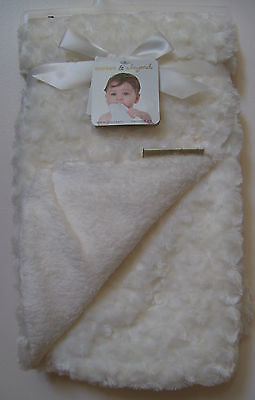 Blankets and Beyond Boys Girls Cream Poodle Soft Minky Plush Baby Blanket NWT