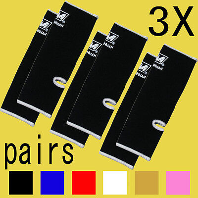 3 pairs ANKLE SUPPORTS WRAP GUARD PROTECTOR TRAINING MUAY THAI KICK BOXING GEAR