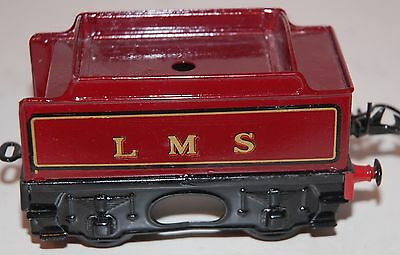 HORNBY SERIES O GAUGE No 1 SPECIAL TENDER IN LMS RED LIVERY REFURBISHED