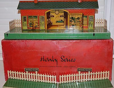 HORNBY SERIES O GAUGE No 2 RAILWAY STATION BOXED WINDSOR BOXED