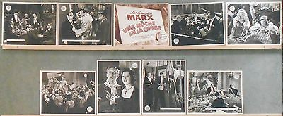 WG13 A NIGHT AT THE OPERA MARX BROTHERS GROUCHO MGM GREAT orig Lobby Set Spain