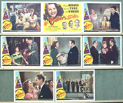 VO17D HIS BUTLER'S SISTER DEANNA DURBIN US Lobby Card Set