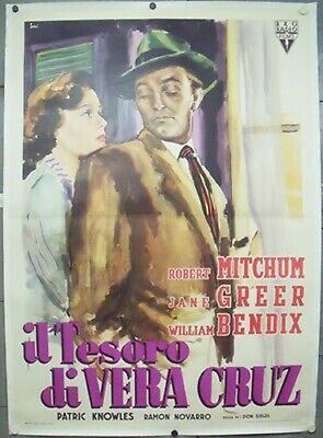 E1395 THE BIG STEAL ROBERT MITCHUM GREAT orig 4sh POSTER ITALY LB