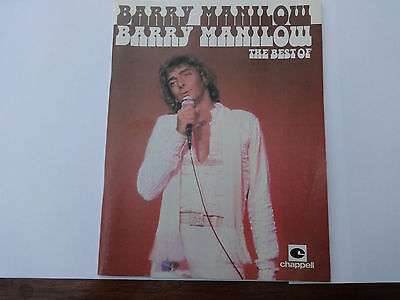 VINTAGE ORIGINAL SHEET MUSIC Vocal Score : THE BEST OF BARRY MANILOW 1978