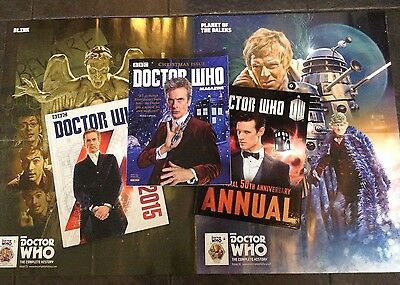 Doctor Who Annuals , Magazine & Poster.