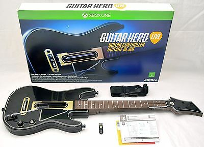 NEW Microsoft XBox 1 One Guitar Hero LIVE Wireless Controller + Dongle NO-GAME