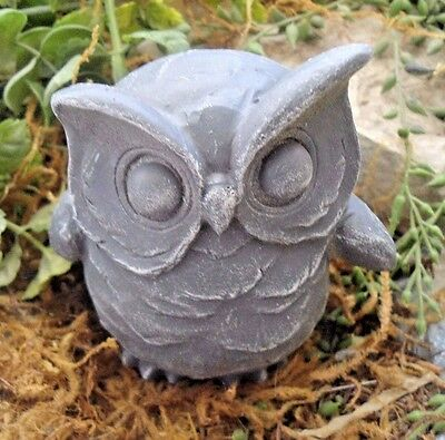 """latex only owl plaster concrete mold 3.5"""" x 3.5"""""""