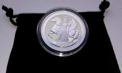 2017 1 Ounce Fine Silver British Virgin Islands Pegasus Reverse Proof Coin