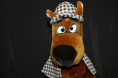 "Scooby Doo Sherlock Holmes Dog Plaid Hat Cape Looney Tunes Cartoon Plush 18"" Toy"