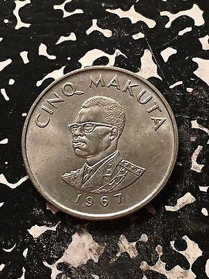 1967 Congo 5 Makuta Lot#9788 High Grade! Beautiful!