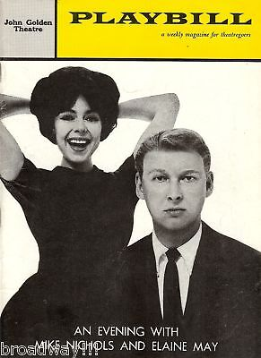 """An Evening with MIKE NICHOLS and ELAINE MAY"" 1960 Broadway Playbill"