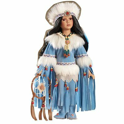"Native American Dreamcatcher Princess 16""  Porcelain Doll Dolls New"
