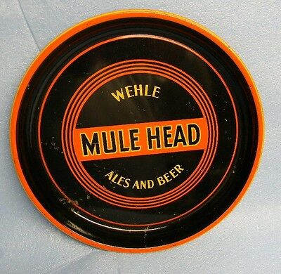 Rare Vintage 1930's Wehle Mule Head Beer Ale Tray Sign West Haven Connecticut