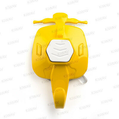 KiWAV old-style-scooter suction cup wall hanger-Goldenrod  with white button