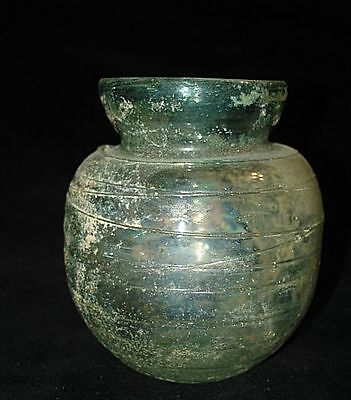 Going out of business sale EXCELLENT  ROMAN GLASS JAR 200-300 AD  EBAY BEST