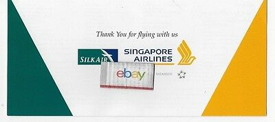 Singapore Airlines & Silk Air Worldwide Ticket Jacket Route Map 73 Cities