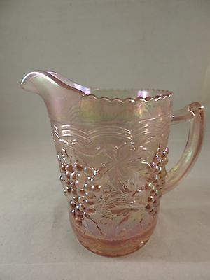 Imperial Glass Pink Iridescent Grape Pitcher