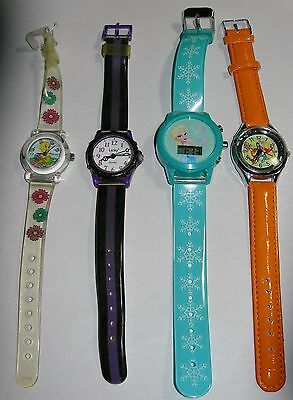 4 Adorable Kids Watches-Winnie the Pooh-Tweetie Bird-Little Mermaid-Dingbats