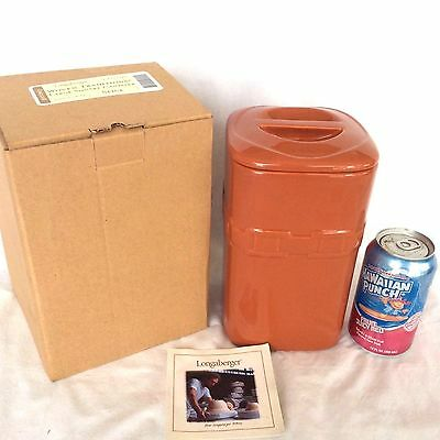 3 SPICE Canister Set Large Longaberger New in Box 70 ounces