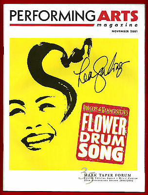 """Lea Salonga (Signed) """"FLOWER DRUM SONG"""" Rodgers & Hammerstein Tryout Program"""