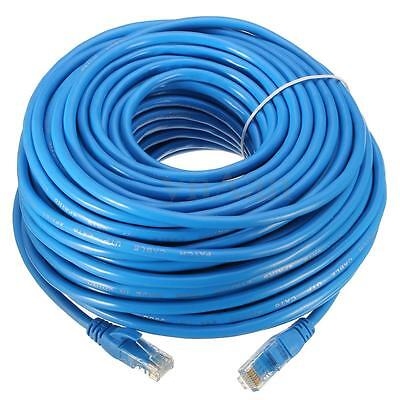 Cable reseau ethernet RJ45 CAT.6 STP 30m bleu pr Internet Box TV PC Consoles...