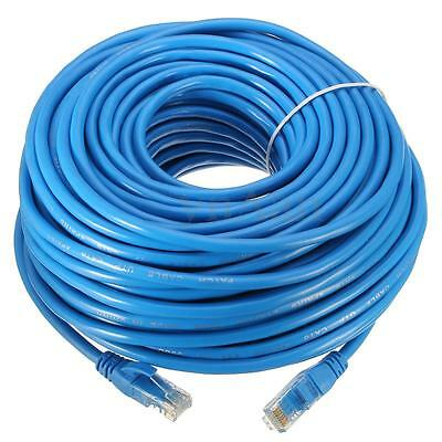 Cable reseau ethernet RJ45 CAT.6 STP 50m bleu pr Internet Box TV PC Consoles...