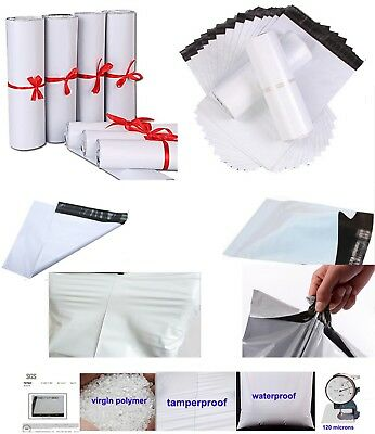 White Strong Self Adhesive Seal Poly Plastic Mailing Postal Bags Eco Quality