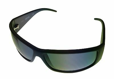 Kenneth Cole Reaction Mens Sunglass Black Rectangle Wrap, Gray Lens KC1206 1A