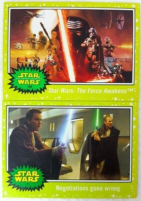 JOURNEY to Star Wars FORCE AWAKENS  GREEN PARALLEL CARD Set of 110  Topps   2015