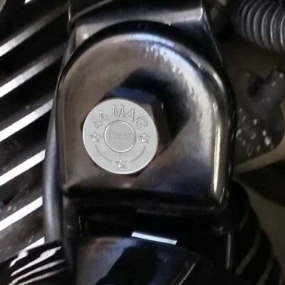 Black Billet Horn Cover Mounting Nut Kit For Harley GLOSS USAF AIR FORCE H004