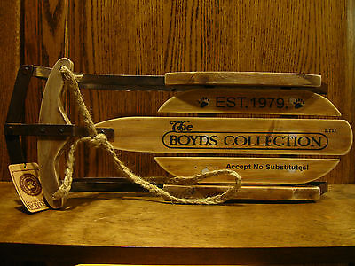 Boyds Teddy Bear Accessories #658150 COLD WINTER'S DAY SLED, wood & metal