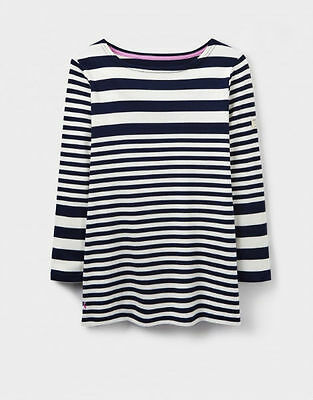 Joules V Harbour Ladies Long Sleeve Jersey Top Humbug French Navy