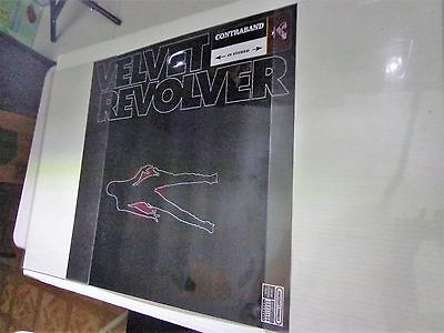 "XX  VELVET REVOLVER-CONTRABAND  poster promotional PLASTIC -24 x 36"" BMG-records"