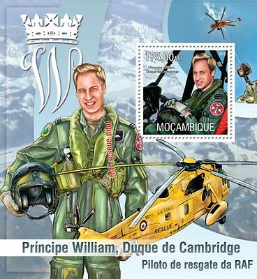 Mozambique 2013- Prince William/Aviation - S/S MNH**(A103)-10