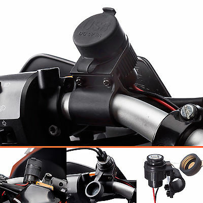 Motorcycle 2 Amp Fast Charge Dual USB Charger Bike Mount for Galaxy S3 S4 S5 S6